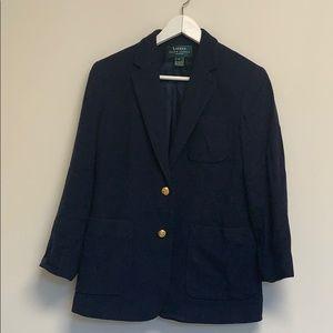 Lauren Ralph Lauren navy wool blazer  sz 4P
